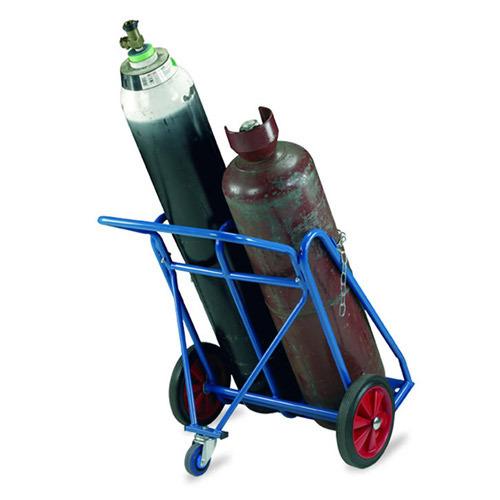 novigas xe đẩy chai khí 3 bánh xe dùng cho 2 chai